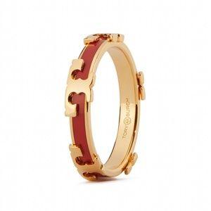 Tory Burch logo gold ring size 8